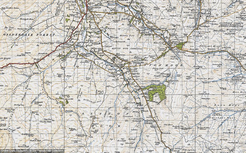 Old Map of Garrigill, 1947 in 1947