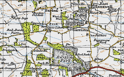 Old map of Wham, The in 1947