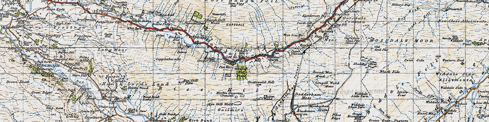 Old map of West Scar Ho in 1947