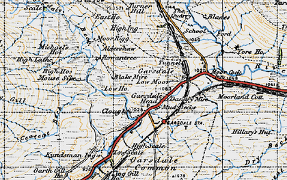 Old map of Yore Ho in 1947