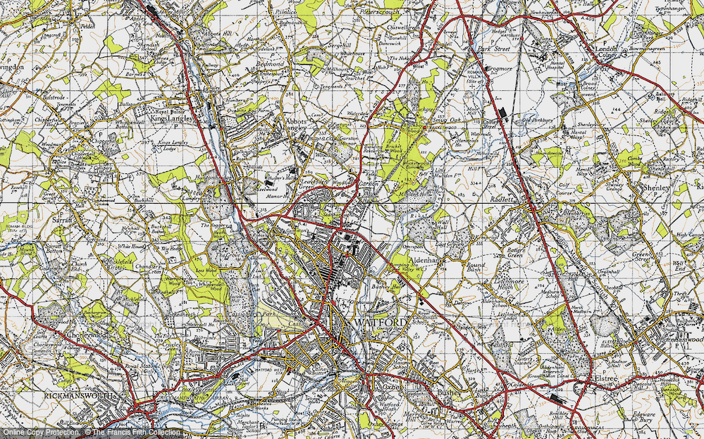 Old Map of Garston, 1946 in 1946