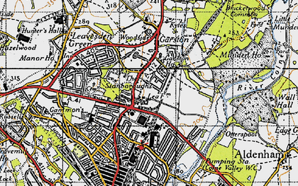 Old map of Garston in 1946
