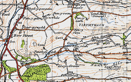 Old map of Afon Stewy in 1947