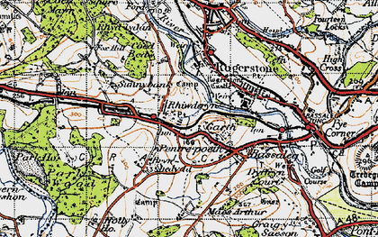 Old map of Garth in 1947