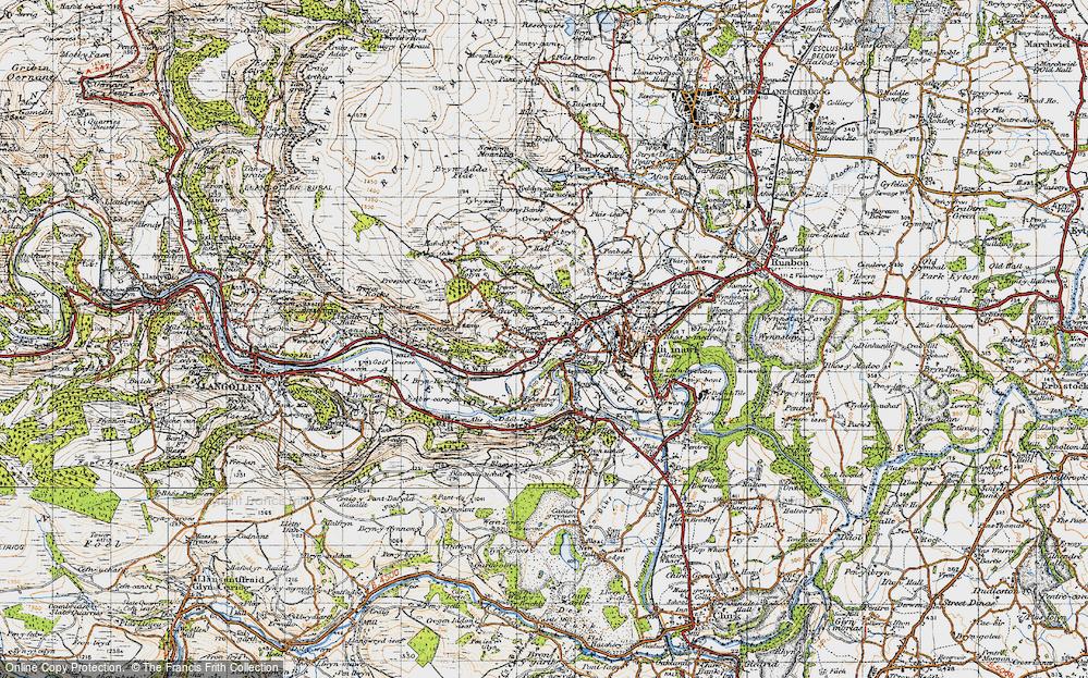 Old Map of Garth Trevor, 1947 in 1947