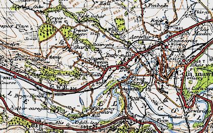 Old map of Garth Trevor in 1947