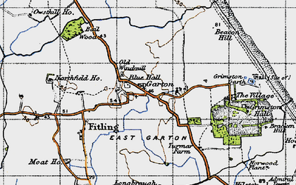 Old map of Bail Wood in 1947
