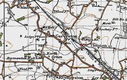 Old map of Garvestone in 1946