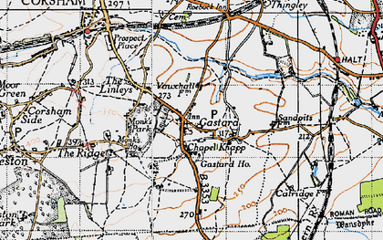 Old map of Gastard in 1946