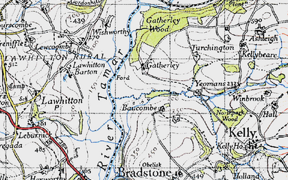 Old map of Yeomans in 1946