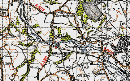 Old map of Ackhurst Hall in 1947