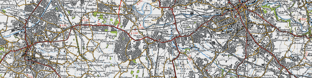 Old map of Bruntwood Hall in 1947