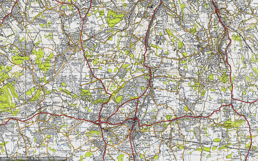 Old Map of Gatton, 1940 in 1940