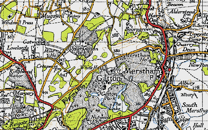 Old map of Gatton in 1940