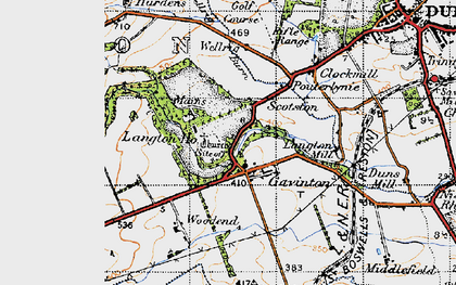 Old map of Young Jeanie's Wood in 1947