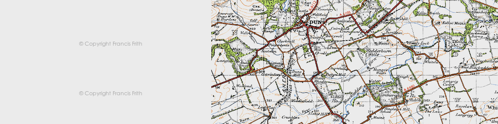 Old map of Langton Edge in 1947