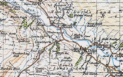 Old map of Wood Head Lathe in 1947