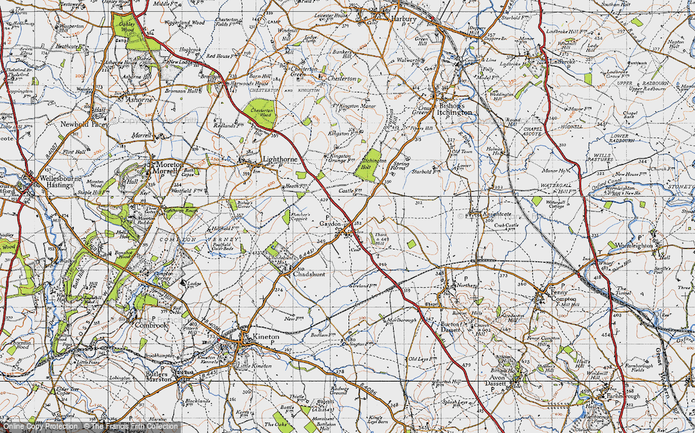 Old Map of Gaydon, 1946 in 1946