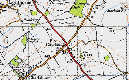 Old map of Gaydon in 1946