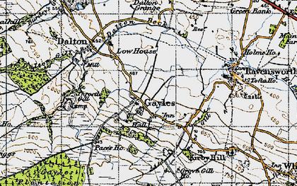Old map of Gayles in 1947