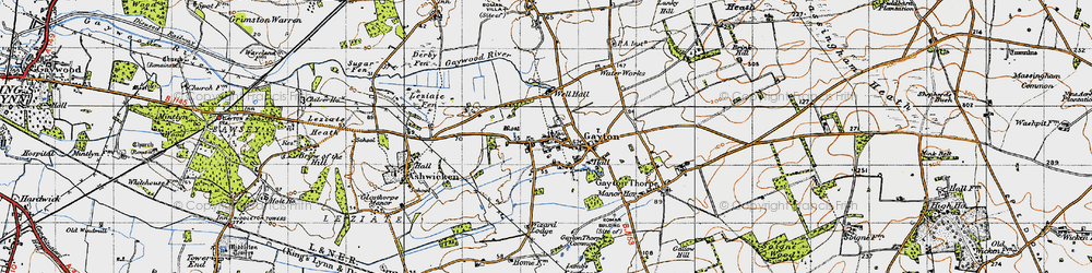 Old map of Wizard Lodge in 1946