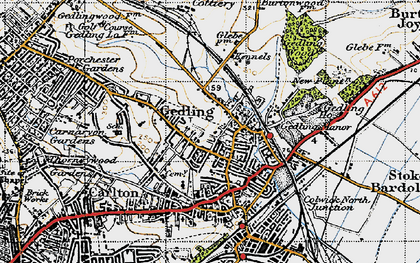 Old map of Gedling in 1946
