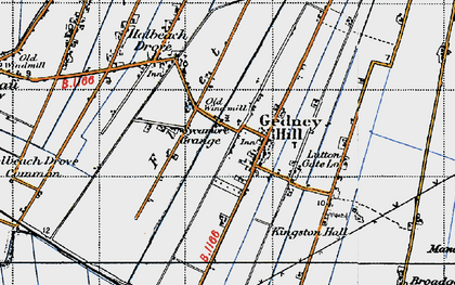 Old map of Gedney Hill in 1946