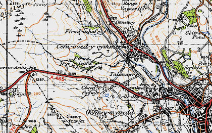 Old map of Ffrwd-isaf in 1947