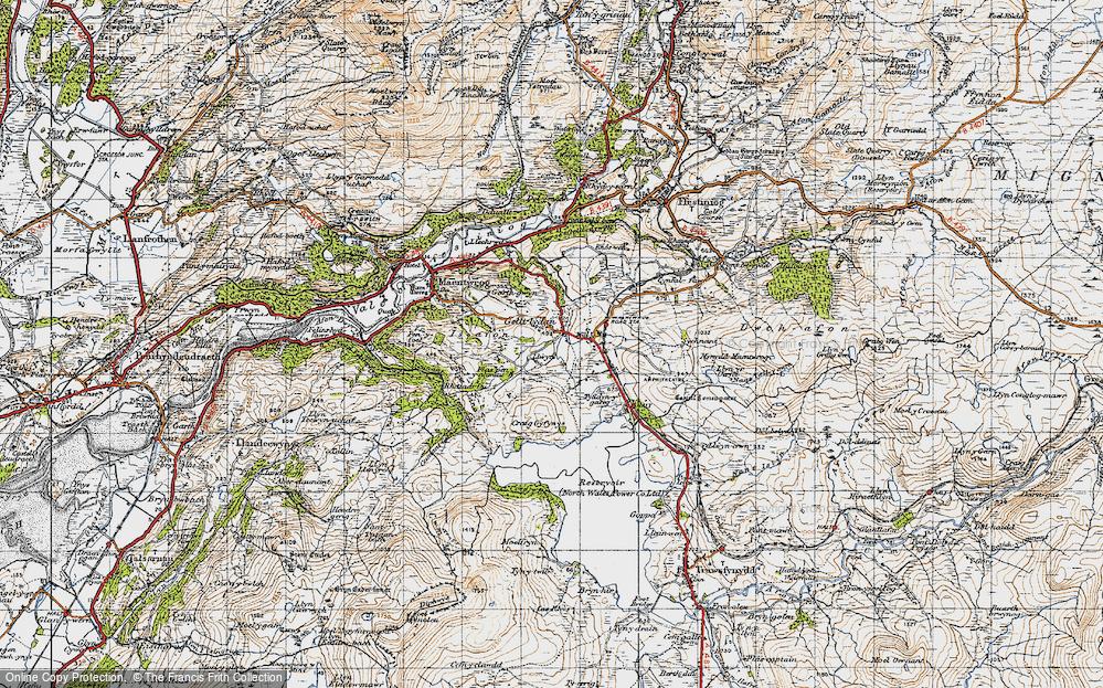 Old Map of Gellilydan, 1947 in 1947