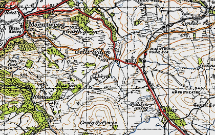 Old map of Gellilydan in 1947