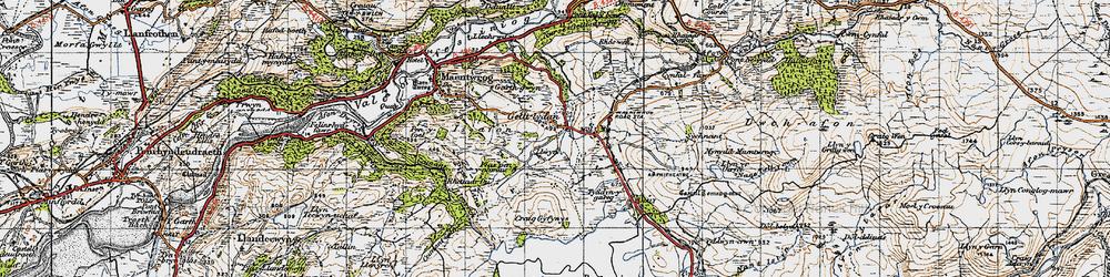 Old map of Gellilydan in 1947