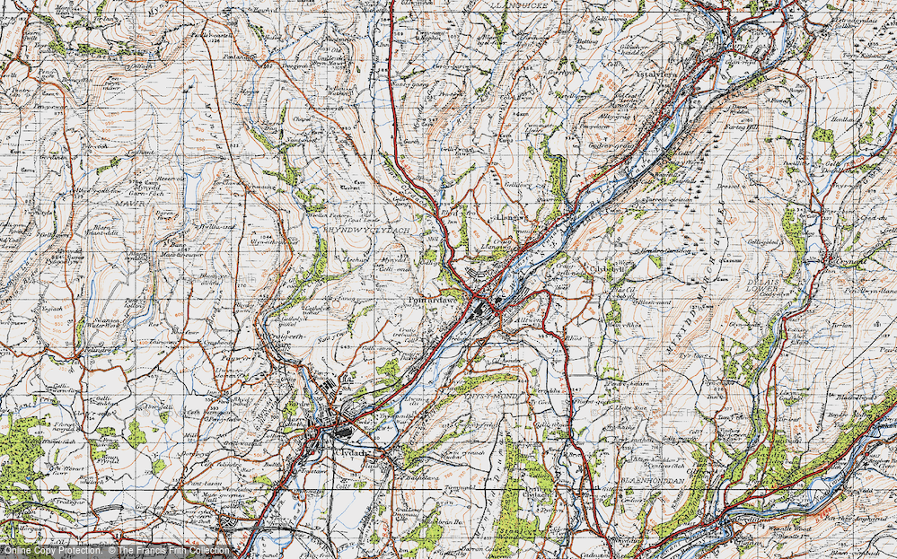 Old Map of Gellygron, 1947 in 1947