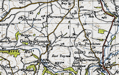 Old map of Yealmacott in 1946