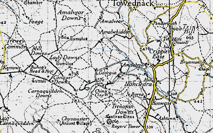 Old map of Georgia in 1946