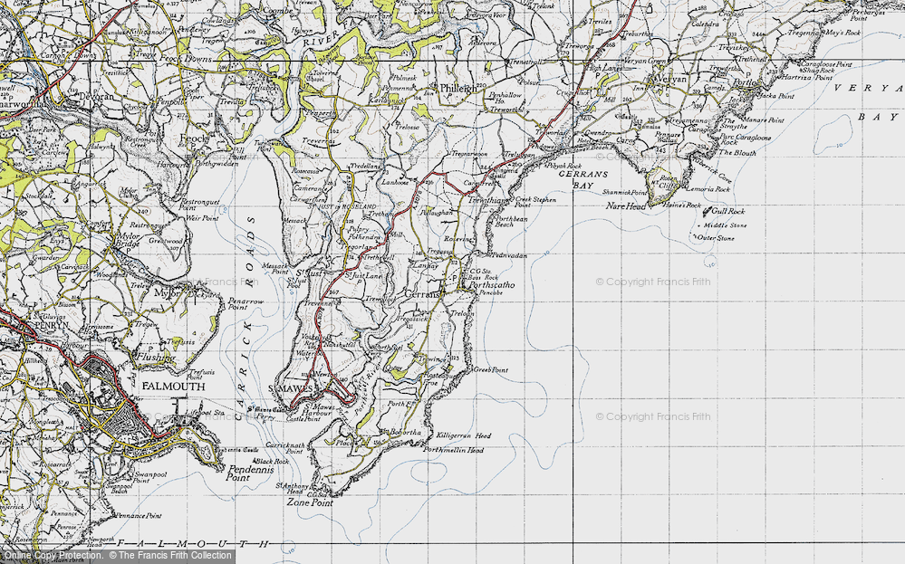 Old Map of Historic Map covering Lanhay in 1946