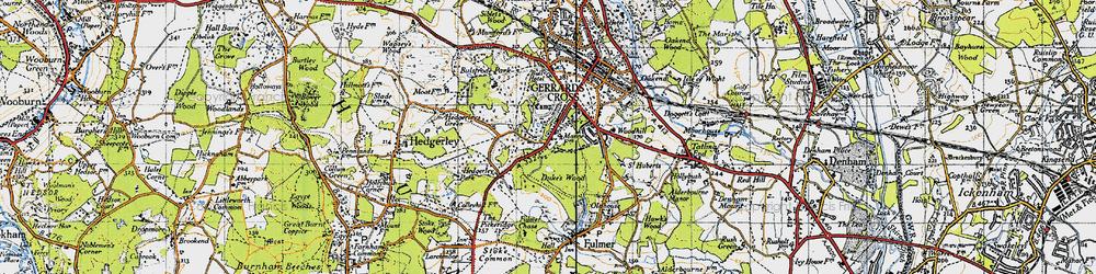Old map of Gerrards Cross in 1945