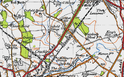 Old map of Westley Br in 1946