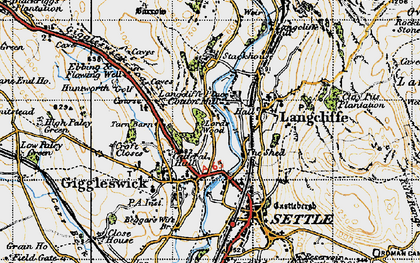 Old map of Giggleswick in 1947