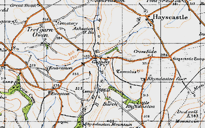 Old map of Asheston Ho in 1946