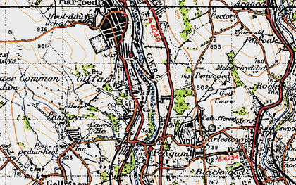 Old map of Gilfach in 1947