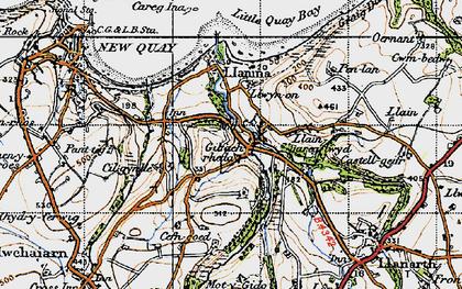 Old map of Gilfachrheda in 1947