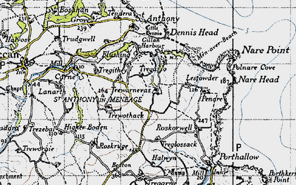 Old map of Gillan in 1946