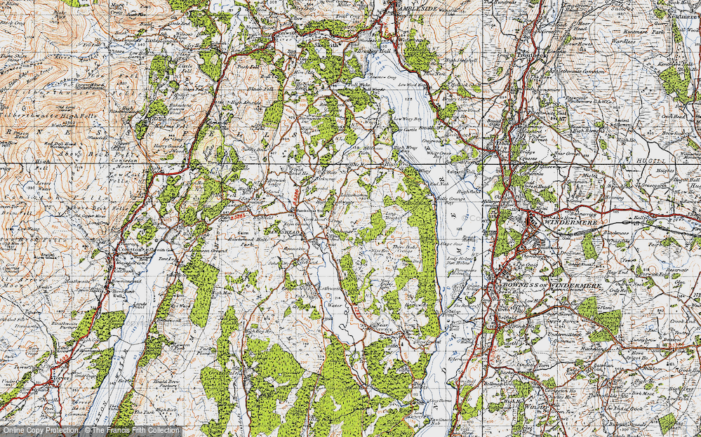 Old Map of Historic Map covering Latterbarrow in 1947