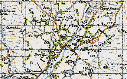 Old map of Windshiels Cott in 1947
