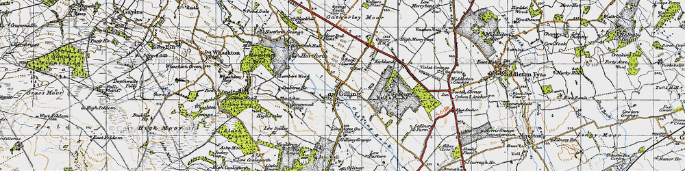Old map of Gilling West in 1947