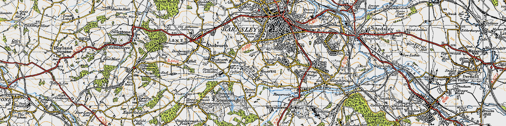 Old map of Gilroyd in 1947