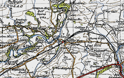 Old map of Gilsland in 1947