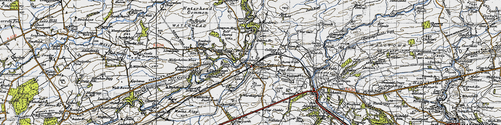Old map of Willowford in 1947