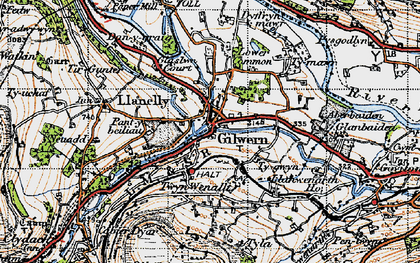 Old map of Gilwern in 1947