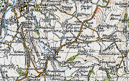 Old map of Yearns Low in 1947
